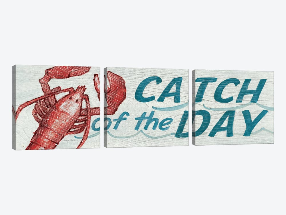 Catch of the Day in Color by Avery Tillmon 3-piece Canvas Artwork