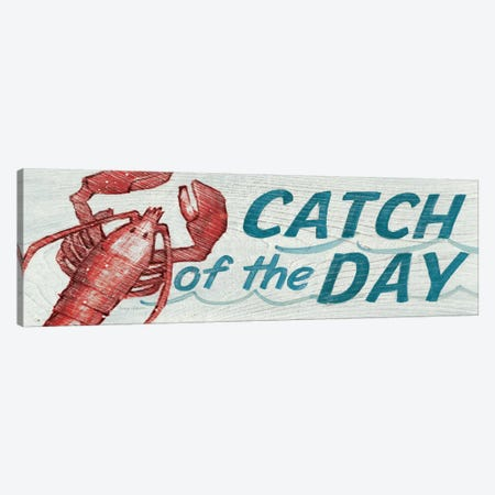 Catch of the Day in Color 3-Piece Canvas #WAC114} by Avery Tillmon Canvas Print