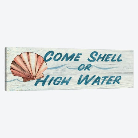 Come Shell or High Water in Color Canvas Print #WAC115} by Avery Tillmon Canvas Art Print