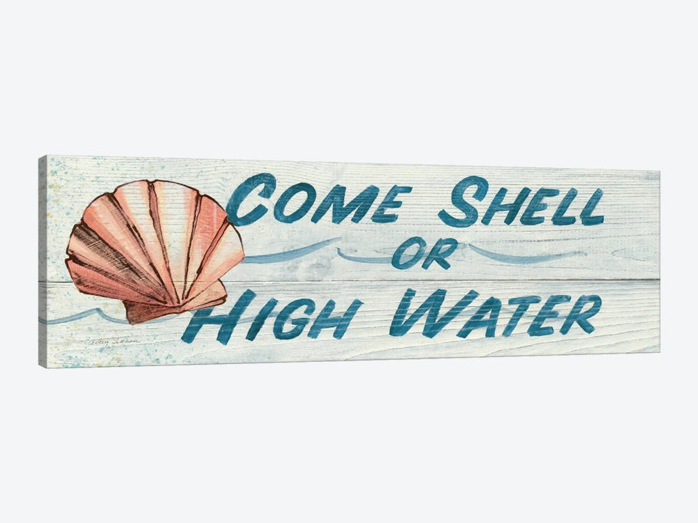 Come Shell or High Water in Color by Avery Tillmon 1-piece Canvas Print
