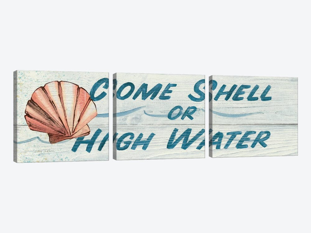 Come Shell or High Water in Color by Avery Tillmon 3-piece Art Print