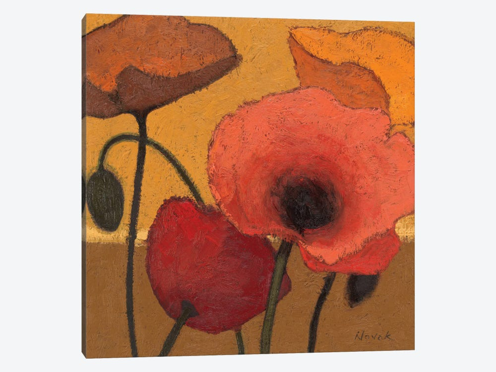 Poppy Curry I by Shirley Novak 1-piece Canvas Print
