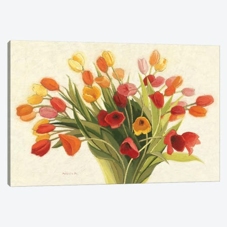 Spring Tulips Canvas Print #WAC1165} by Shirley Novak Canvas Print