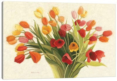 Spring Tulips Canvas Art Print