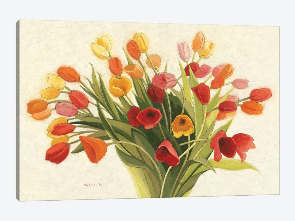 Spring Tulips by Shirley Novak 1-piece Canvas Artwork