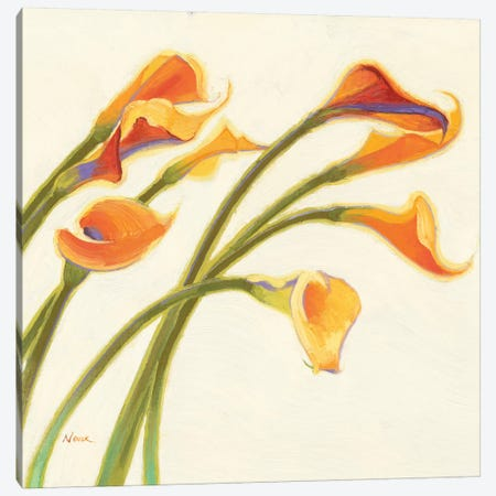 Callas in the Wind I Canvas Print #WAC1168} by Shirley Novak Canvas Artwork