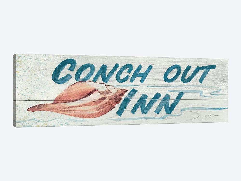 Conch Out Inn in Color by Avery Tillmon 1-piece Canvas Wall Art