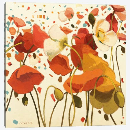 Coral Confetti Canvas Print #WAC1173} by Shirley Novak Canvas Art Print