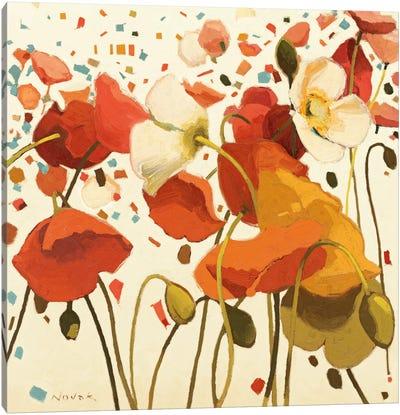 Coral Confetti Canvas Print #WAC1173