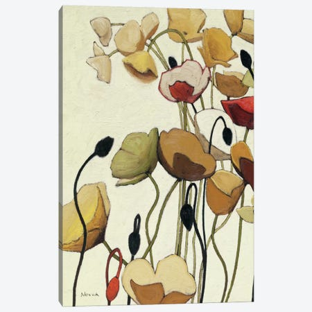 Pavots Ondule I Canvas Print #WAC1177} by Shirley Novak Canvas Art
