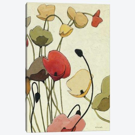 Pavots Ondule II 3-Piece Canvas #WAC1178} by Shirley Novak Canvas Art Print
