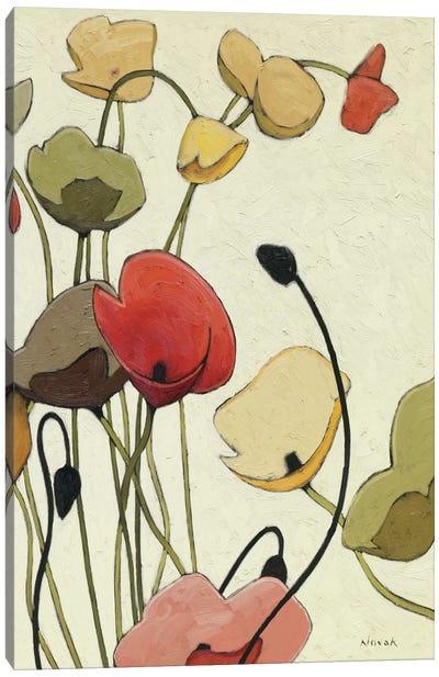 Pavots Ondule II Canvas Art Print