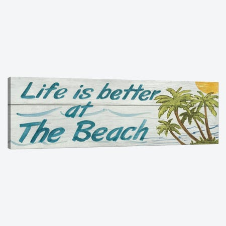 Life is Better at the Beach in Color Canvas Print #WAC117} by Avery Tillmon Art Print