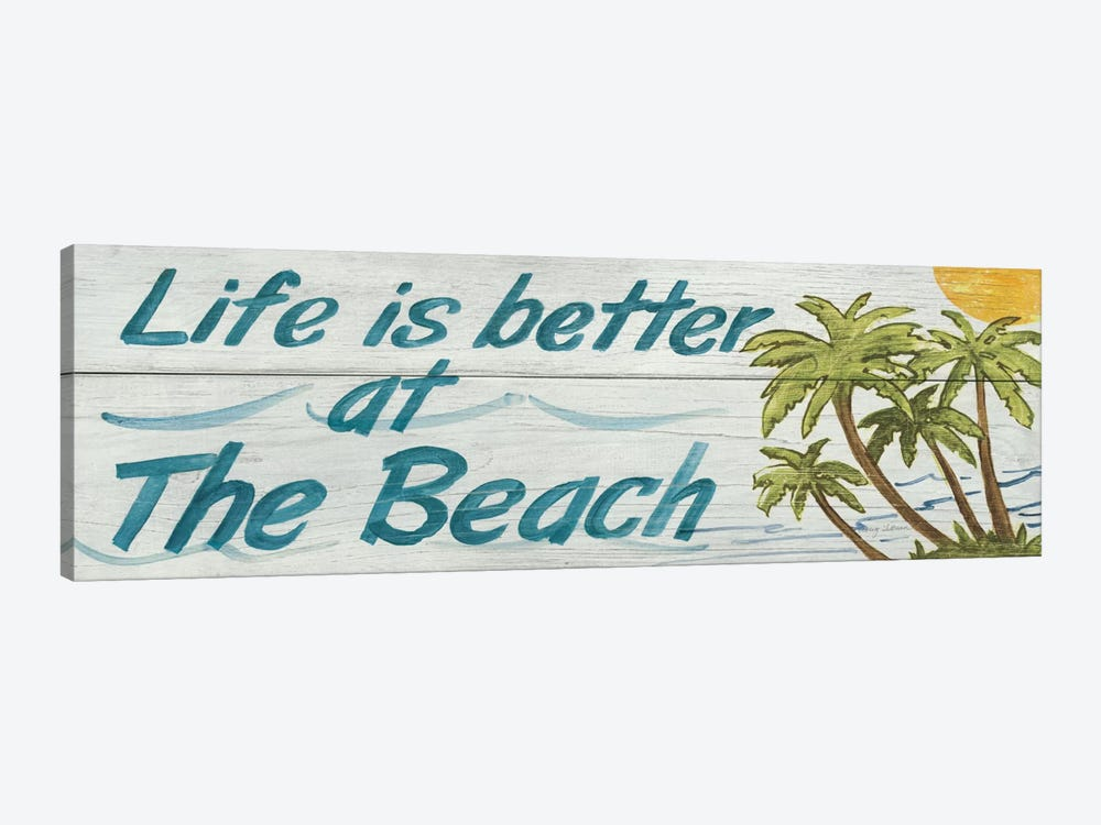 Life is Better at the Beach in Color by Avery Tillmon 1-piece Canvas Print
