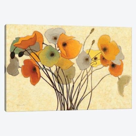 Pumpkin Poppies I 3-Piece Canvas #WAC1183} by Shirley Novak Canvas Wall Art