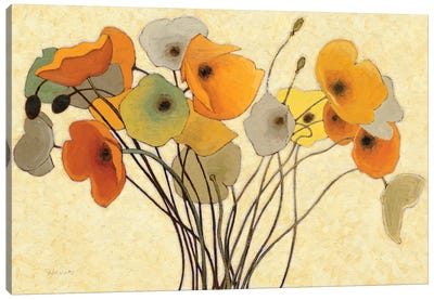 Pumpkin Poppies I Canvas Art Print