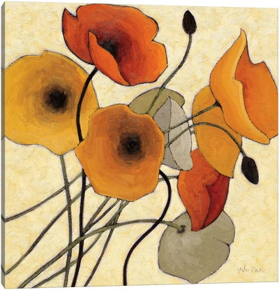 Pumpkin Poppies II Canvas Art Print