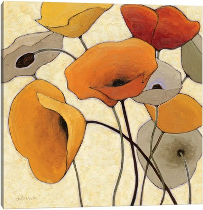 Pumpkin Poppies III Canvas Print #WAC1185