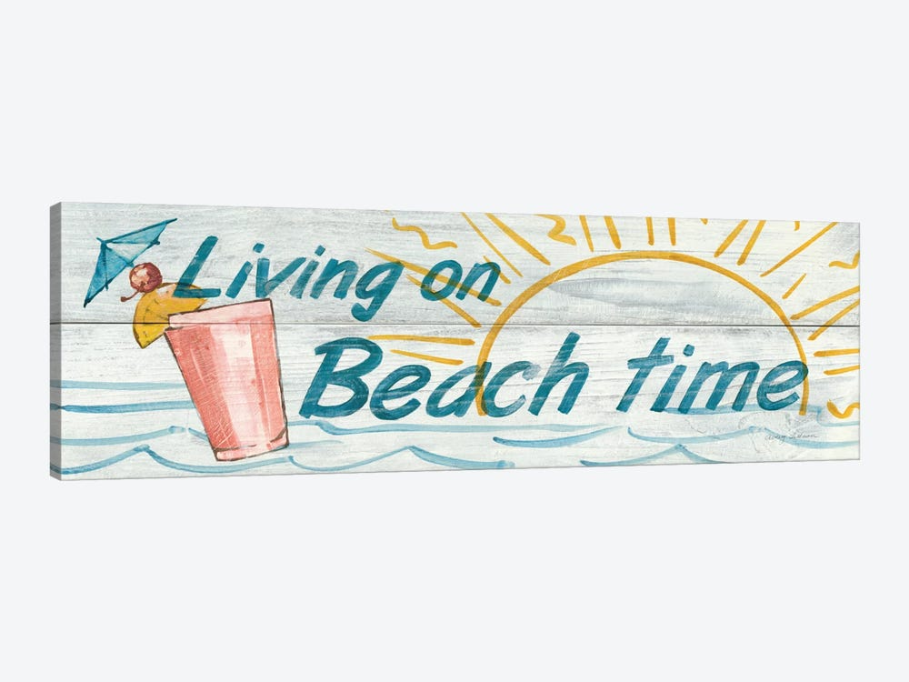 Living on Beach Time in Color by Avery Tillmon 1-piece Canvas Artwork
