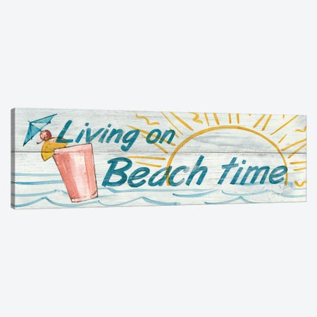 Living on Beach Time in Color Canvas Print #WAC118} by Avery Tillmon Canvas Artwork