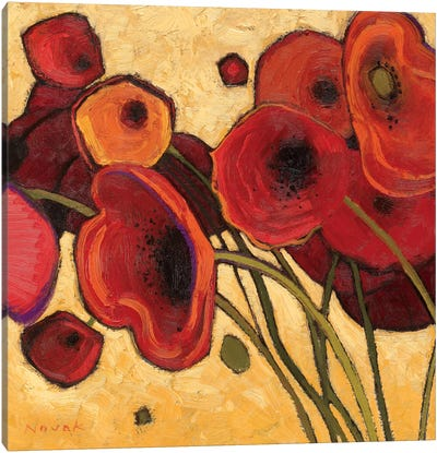 Poppies Wildly I  Canvas Print #WAC1196