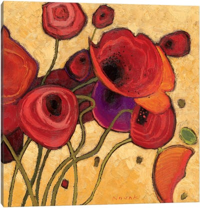 Poppies Wildly II  Canvas Print #WAC1197