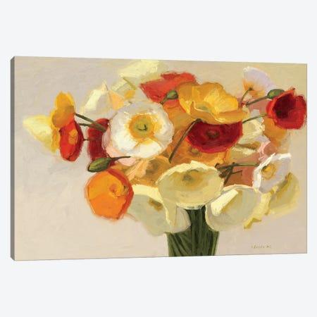 November Poppies  Canvas Print #WAC1198} by Shirley Novak Canvas Art Print