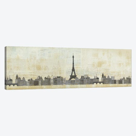 Eiffel Skyline  Canvas Print #WAC119} by Avery Tillmon Canvas Artwork