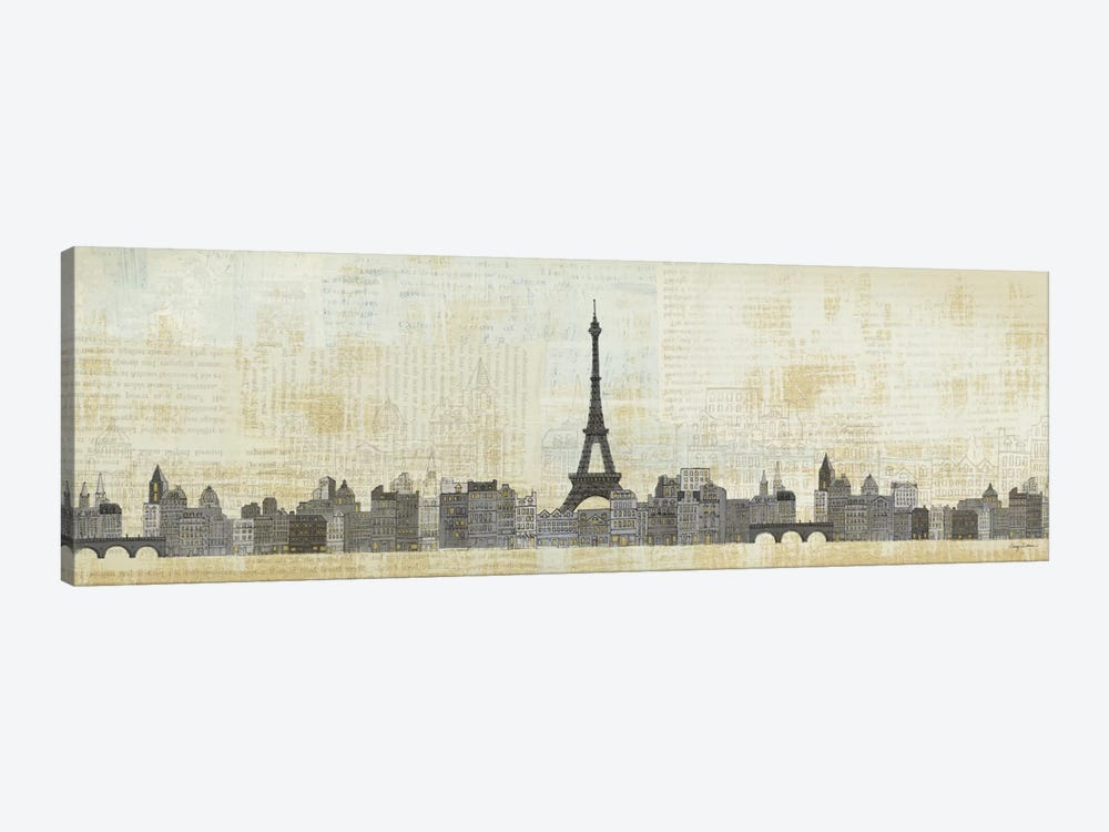 Eiffel Skyline by Avery Tillmon 1-piece Canvas Art Print