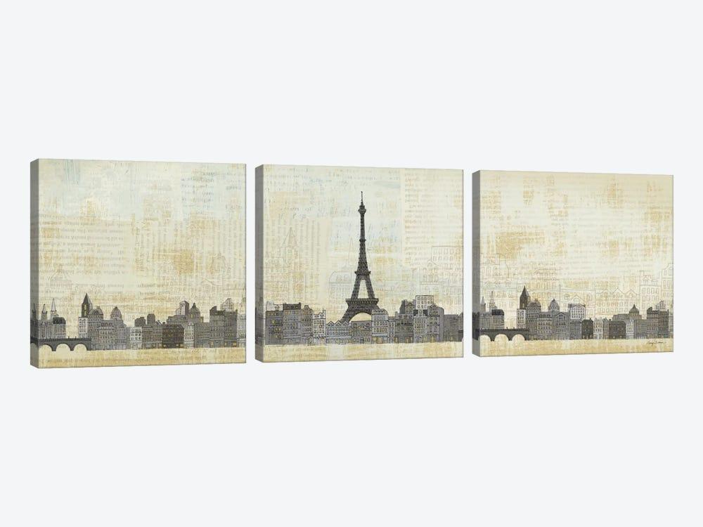 Eiffel Skyline  by Avery Tillmon 3-piece Canvas Print