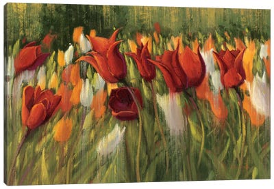 Tipsy Tulips Canvas Art Print