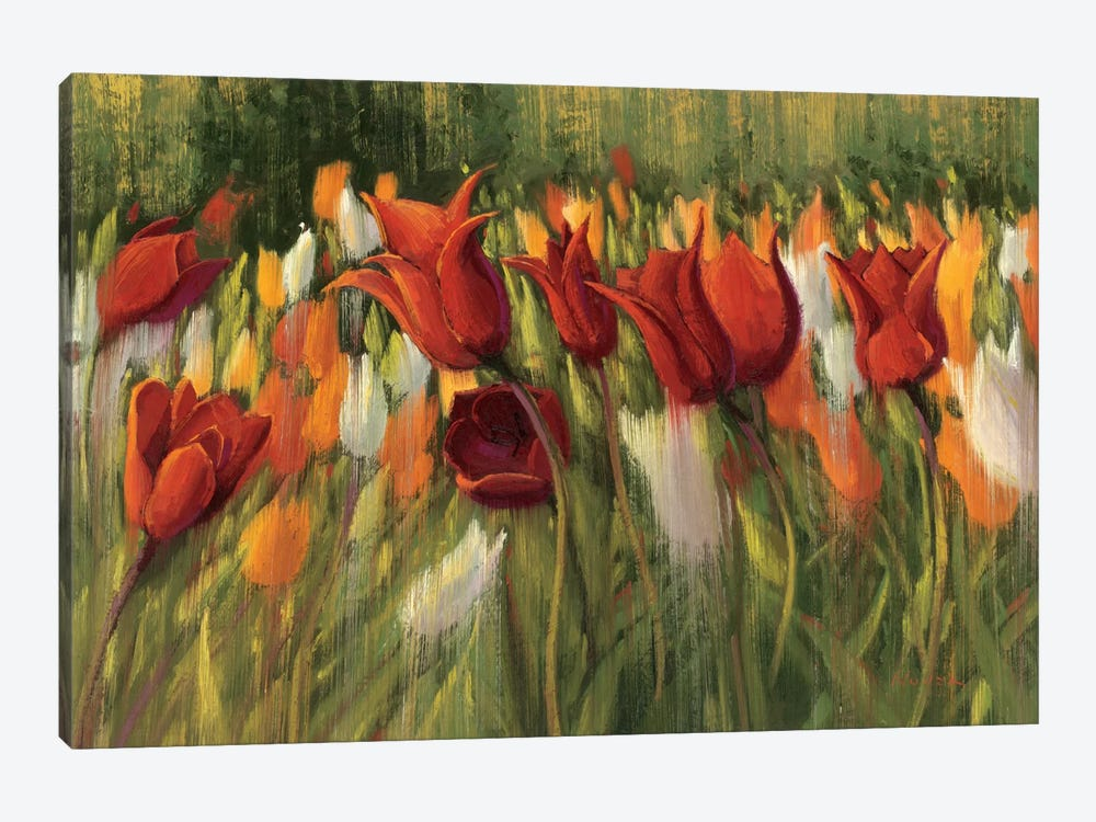Tipsy Tulips 1-piece Canvas Art Print