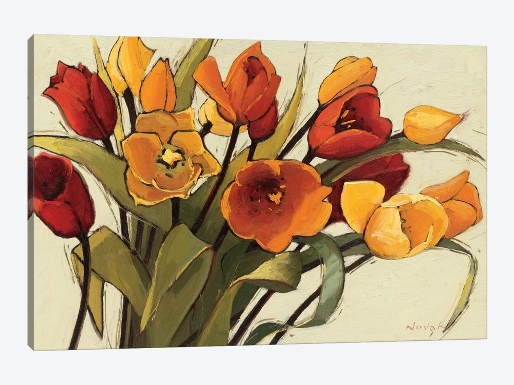 Tulip Time by Shirley Novak 1-piece Canvas Art Print