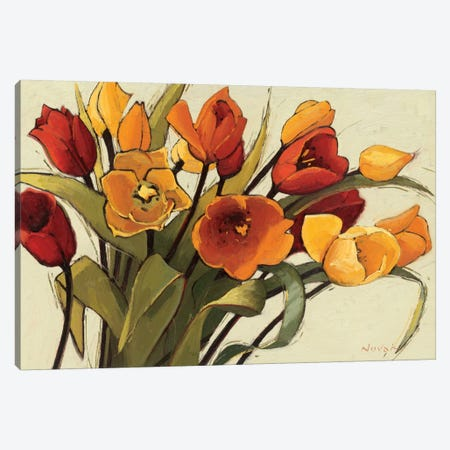 Tulip Time Canvas Print #WAC1204} by Shirley Novak Canvas Wall Art