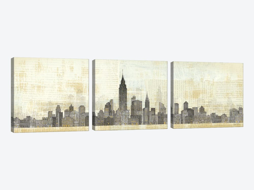 Empire Skyline by Avery Tillmon 3-piece Canvas Print