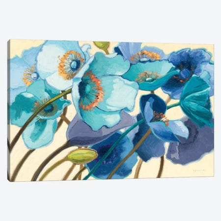 Le Pavots Bleu  Canvas Print #WAC1217} by Shirley Novak Canvas Art Print