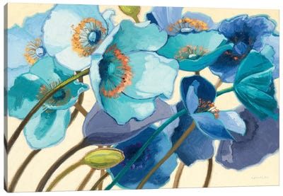 Le Pavots Bleu  Canvas Art Print