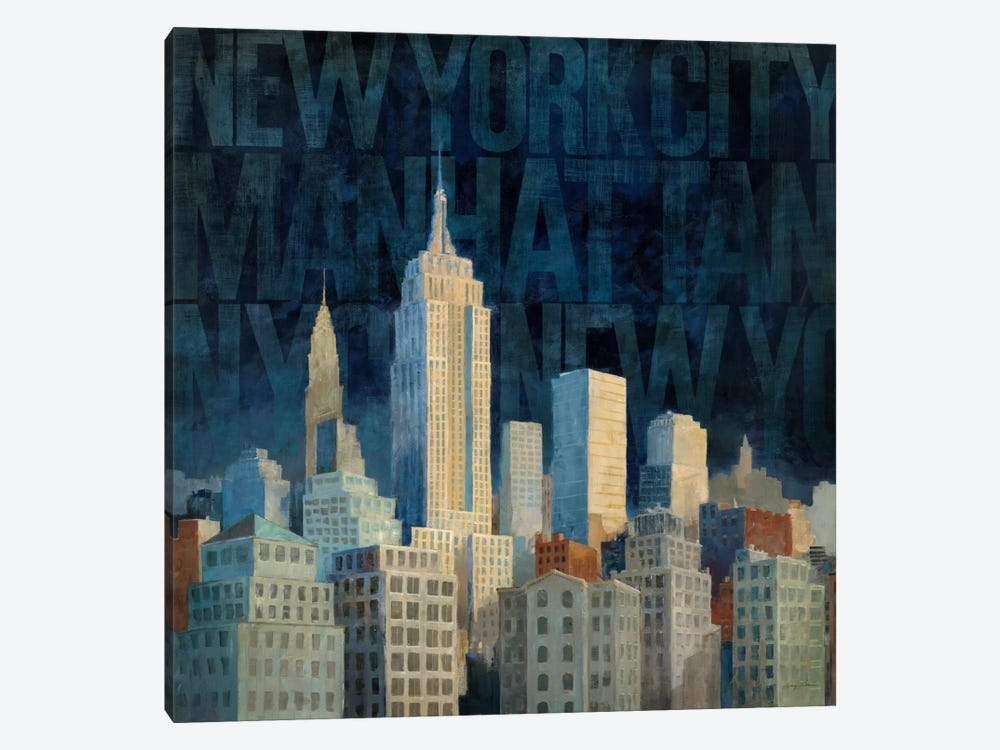 Midnight in Midtown Words by Avery Tillmon 1-piece Canvas Art