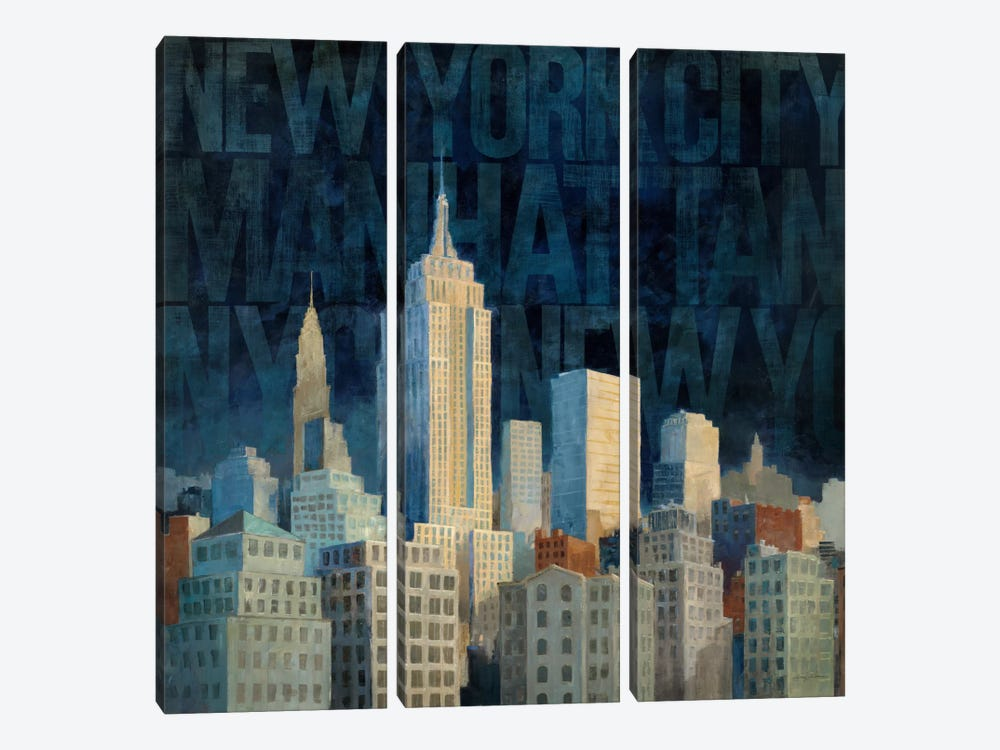 Midnight in Midtown Words by Avery Tillmon 3-piece Canvas Art