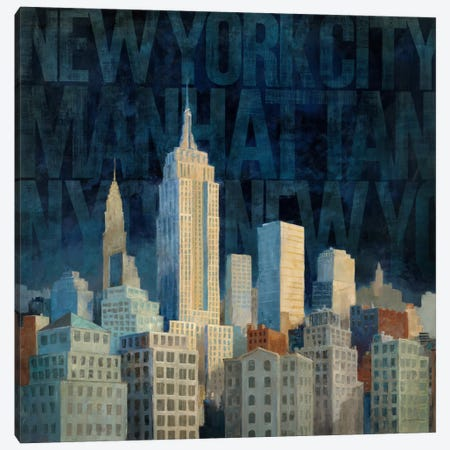 Midnight in Midtown Words  Canvas Print #WAC121} by Avery Tillmon Canvas Art Print