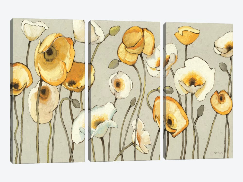 Jaune Gris I  by Shirley Novak 3-piece Canvas Artwork