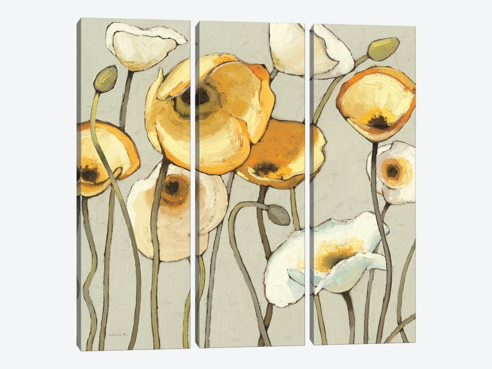 Jaune Gris II by Shirley Novak 3-piece Canvas Print