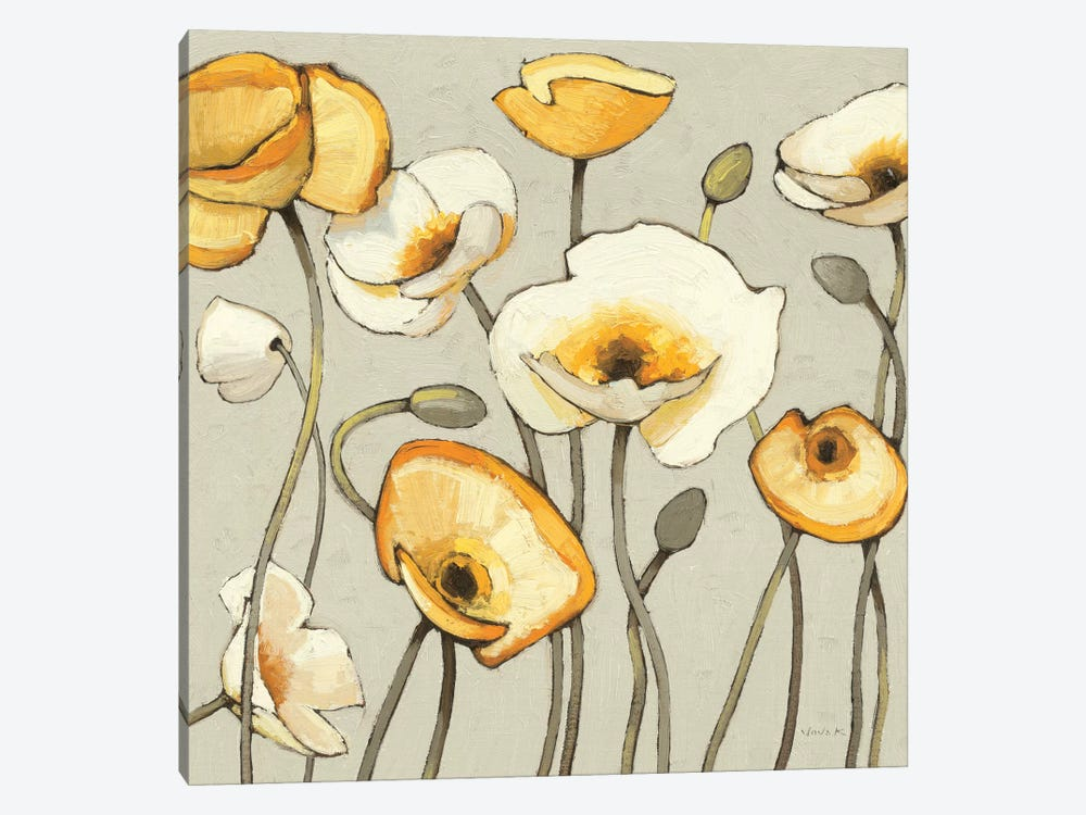 Jaune Gris III by Shirley Novak 1-piece Canvas Artwork
