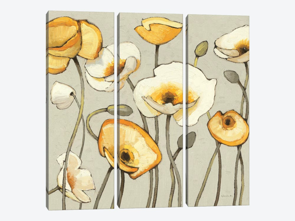 Jaune Gris III by Shirley Novak 3-piece Canvas Art
