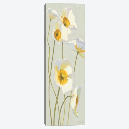 White on White Poppies Panel I   3-Piece Canvas #WAC1224} by Shirley Novak Canvas Art