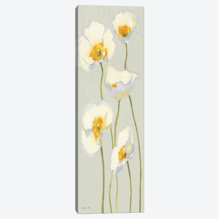 White on White Poppies Panel II   Canvas Print #WAC1225} by Shirley Novak Canvas Wall Art