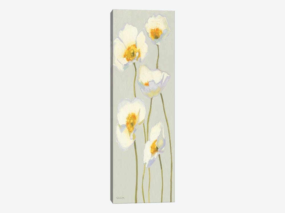 White on White Poppies Panel II by Shirley Novak 1-piece Canvas Art