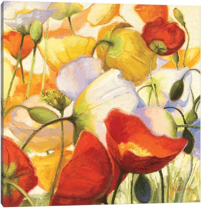Poppies Up Close Canvas Art Print