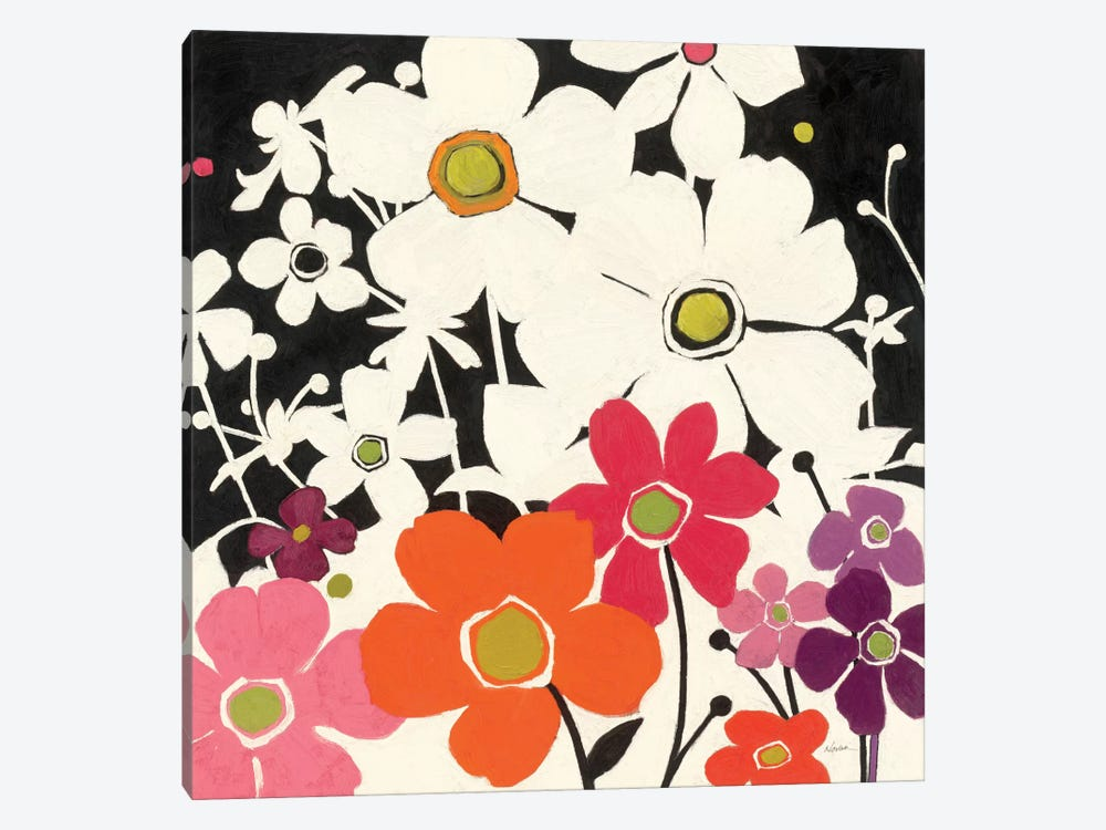 Flower Power by Shirley Novak 1-piece Canvas Wall Art