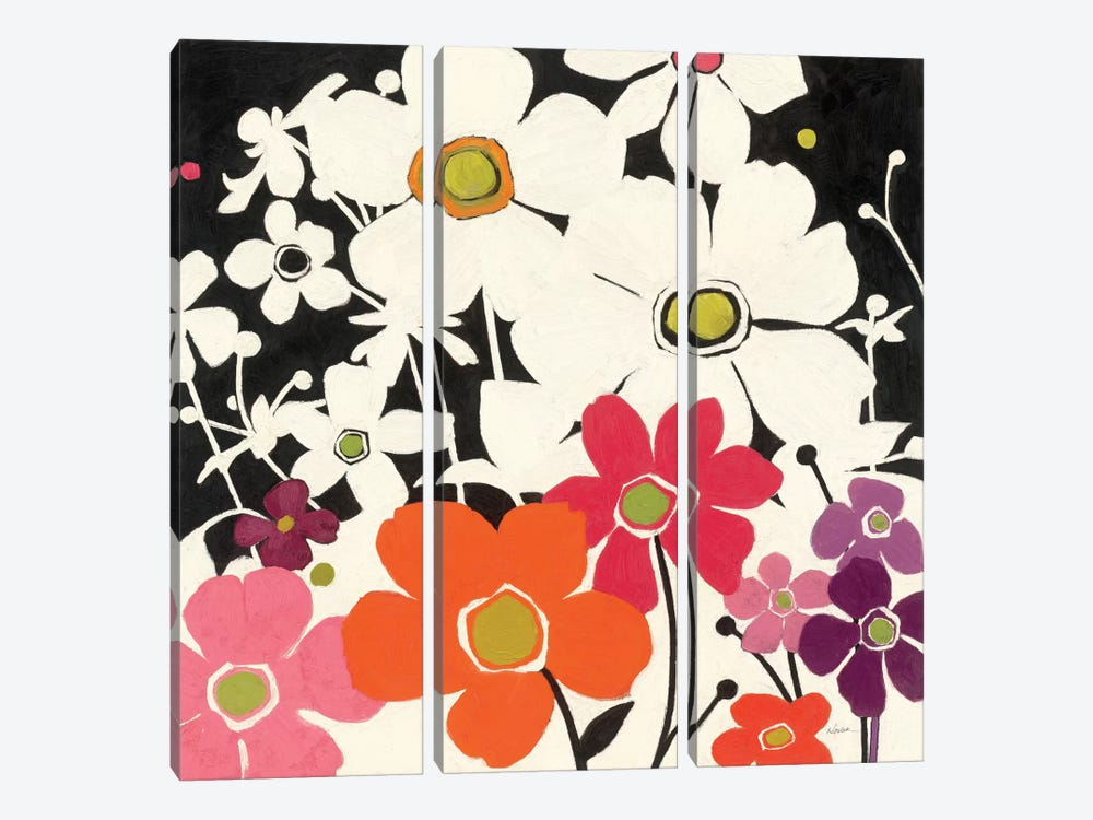Flower Power by Shirley Novak 3-piece Canvas Art